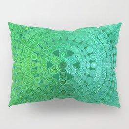 Green Mandala Circle Pillow Sham