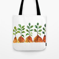 succulents Tote Bags featuring Succulents by Gosia&Helena