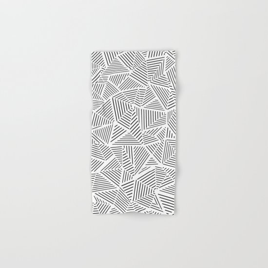 Abstraction Linear Inverted Hand & Bath Towel