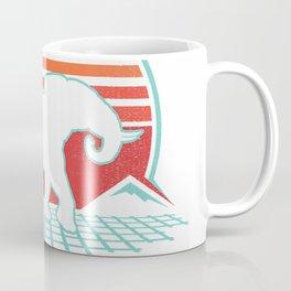 Elephant Retro Vintage 80s Style Animal Lover Gift T-Shirt Coffee Mug