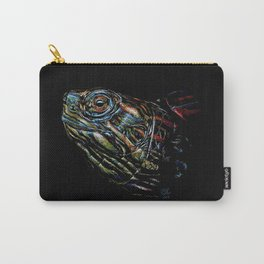 Rainbow Turtle Head Pastel Drawing - Just Popping Out Carry-All Pouch