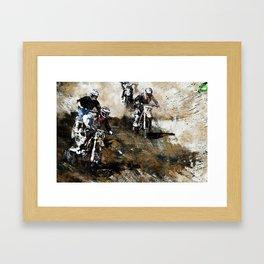 """""""Dare to Race"""" Motocross Dirt-Bike Racers Framed Art Print"""