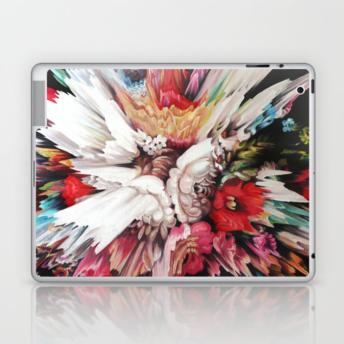 Floral Glitch II Laptop & iPad Skin