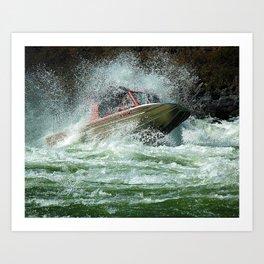 Jet Boat Art Print