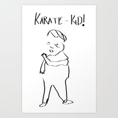 Karate Comic Art Print