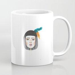 POC Woman drawing with feathers Coffee Mug