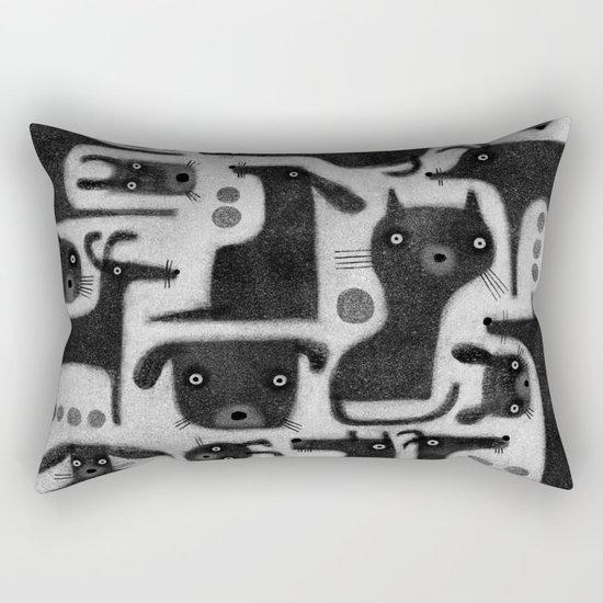 BLACK CRITTER ASSORTMENT Rectangular Pillow