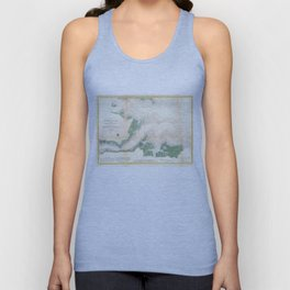 Vintage York River Entrance Map (1857) Unisex Tank Top