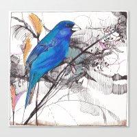 indigo Canvas Prints featuring Indigo by Maggie Madole