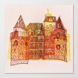 Letterpress Castle 3 Canvas Print
