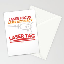 Laser Focus Laser Accuracy Lasertag Stationery Cards