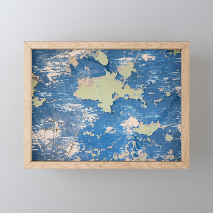 Abstract Blue Framed Mini Art Print