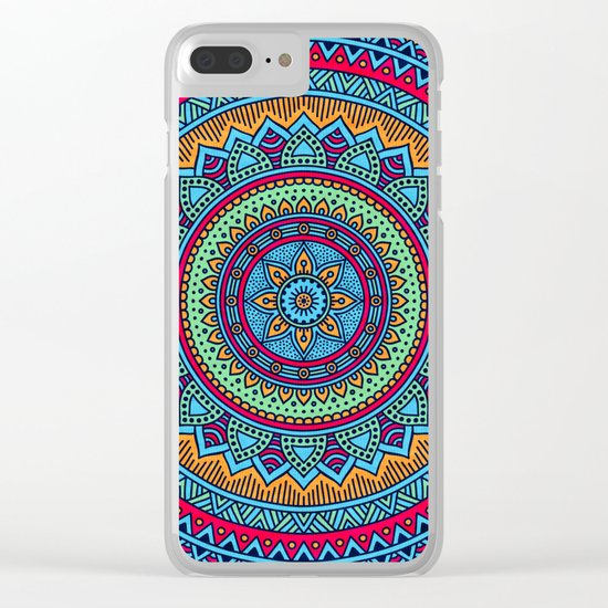 Hippie mandala 52 Clear iPhone Case