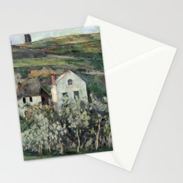 Paul Cezanne - Small Houses in Pontoise Stationery Cards