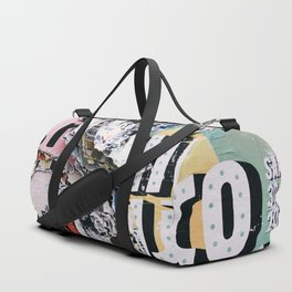 Torn mexican posters wall Duffle Bag