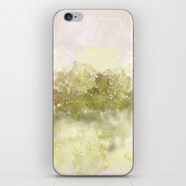 Choppy Soft Pink and Deep Yellow Ocean Water iPhone Skin