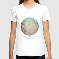 birds T-shirts featuring Caged Birds by Tina Crespo