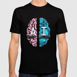 AI Nerd design - Artificial Intelligence Brain graphic T-shirt