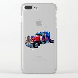 Optimus Prime Blue Clear iPhone Case