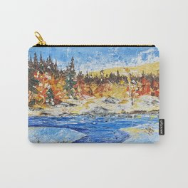 Landscape painting- The clear water River - by LiliFlore Carry-All Pouch