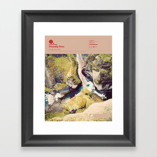 The Visual Mixtape 2010 | Friendly Fires | 14 / 25 Framed Art Print