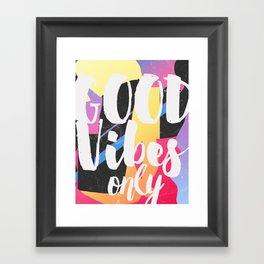 Good vibes only color box Framed Art Print