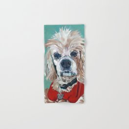 Ted the Cocker Spaniel Dog Art Hand & Bath Towel