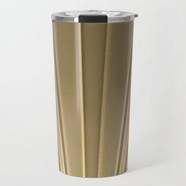 Art Deco Golden Matte Travel Mug
