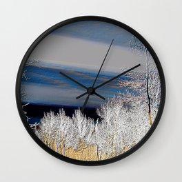 Country Evening Landscape | Nadia Bonello Wall Clock