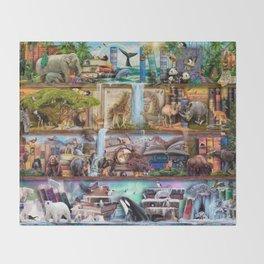 The Amazing Animal Kingdom Throw Blanket