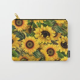 Vintage & Shabby Chic - Noon Sunflowers Garden Carry-All Pouch