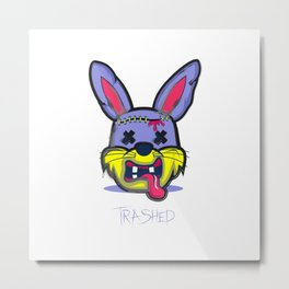 Destroyed Rabbit Metal Print