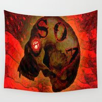 anarchy Wall Tapestries featuring ANARCHY - 005 by Lazy Bones Studios