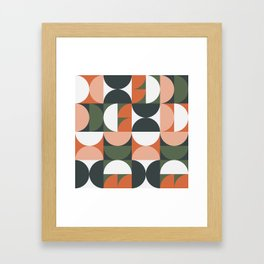 Mid Century Geometric 16 Framed Art Print