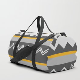 Gray stripes and native shapes Duffle Bag