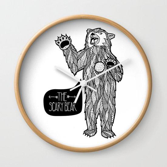 Scary Bear 2 Wall Clock