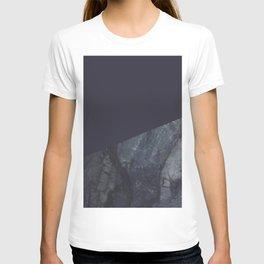 Marble Geometric Navy Blue Indigo T-shirt