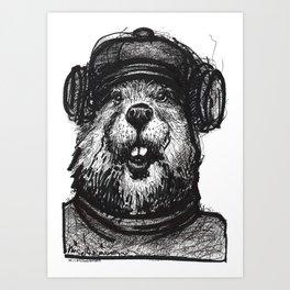Mr. Beaver Art Print