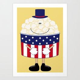 Mr.Popcorn Art Print
