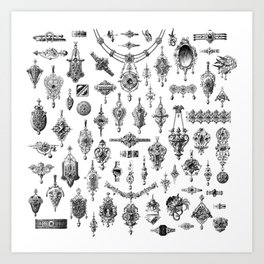 Jewels and Trinkets Art Print