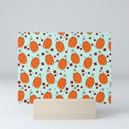Super Canadian Maple Syrup Pattern Mini Art Print
