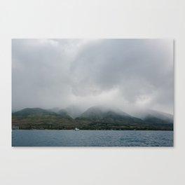 Foggy Maui View Canvas Print