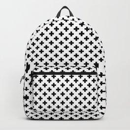 Small Black Crosses on White Backpack
