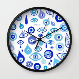 Evil Eyes Wall Clock