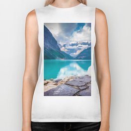 Wolf in Paradise (Color) Biker Tank