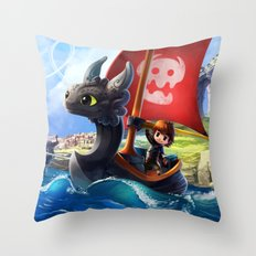 The Dragon Waker Throw Pillow