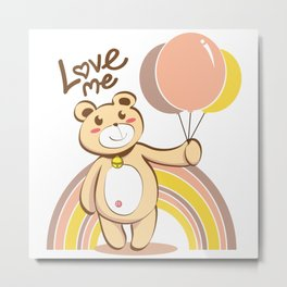 Bear For Love Metal Print