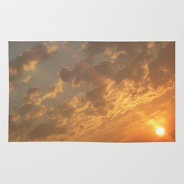 Sun in a corner Rug