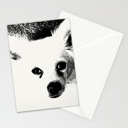 White Dog Stationery Cards