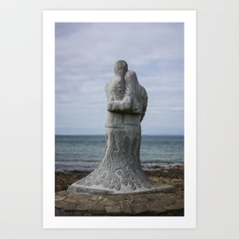 Vigil Sculpture by Ciaran O'Brien on the Memorial Trail at Kilmore Quay. Art Print